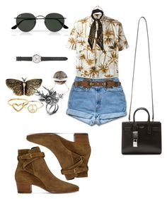 """""""Untitled #186"""" by fashion-inspirationscx ❤ liked on Polyvore featuring Minor Obsessions, Yves Saint Laurent, ADA Collection, Ray-Ban, Rockins, Fendi, Mulberry, ChloBo, J.Crew and vintage"""
