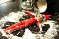 Elf on the Shelf Ideas - Snow play