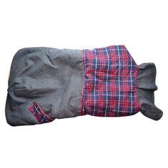 Capa Alaska Cinza com Xadrez Vermelho e Azul Pickorruchos - MeuAmigoPet.com.br #petshop #cachorro #cão #meuamigopet