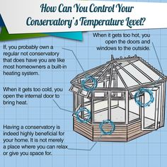 Conservatories are notorious for their extreme temperatures. They can be too damn hot or cold during the seasons. So, how can you probably keep the temperature in control? Here's how: