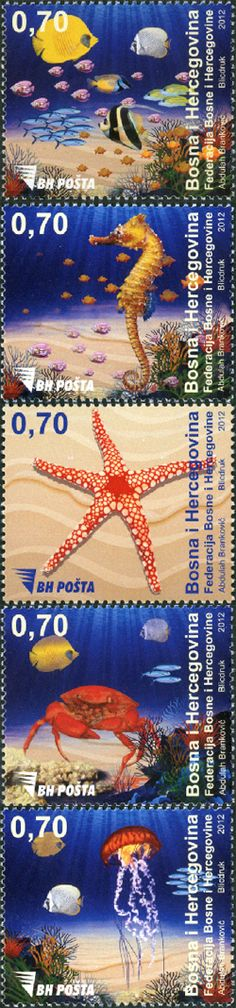 Bosnia stamps | Sea Fauna stamps from Bosnia and Herzegovina | Stampnews.com