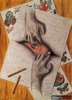 Awesome Creativity! #3D #Drawing | Elena Art Ideas | Pinterest ...