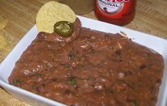 Hot & Spicy Refried Bean Dip #vegan