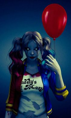 "Harley Quinn Pennywise: ""You'll Float Too"", Abd Majeed Abd Mumuni Joker Y Harley Quinn, Harley Quinn Drawing, Harley Quinn Cosplay, Hearly Quinn, Female Villains, Daddys Lil Monster, Gotham Girls, Catwoman, Art Girl"