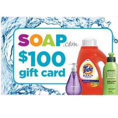 Click here for a chance to win a 100 dollar gift card from Soap.com and shop for the essentials right at home!