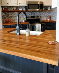 So in love with how this kitchen looks! Even better is that the butcher block counters were finished with non toxic, food safe, all natural Pure Tung Oil (and a bit of Citrus Solvent). Beautiful and natural don't have to be at odds. Pure Tung Oil, Real Milk Paint, Butcher Block Oil, Safe Food, Vermont, Home Projects, Natural Wood, Floors, Farmhouse