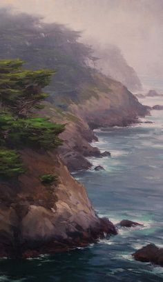 Resultado de imagen de pintura Foggy Coast by Jesse