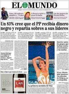 Los Titulares y Portadas de Noticias Destacadas Españolas del 21 de Julio de 2013 del Diario El Mundo ¿Que le pareció esta Portada de este Diario Español?
