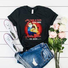 Strong Woman Nem Todos Or Herois Usa jaleco t shirt
