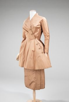 The fabric is gorgeous as well as the design. dinner dress ca. 1953