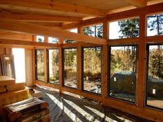 Considering Sunroom Windows That Open Room Decors And Design A, . - Sunroom Windows - Re-Wilding Tiny House Cabin, Tiny House Plans, Tiny House Design, Porch Vinyl, Timber Frame Cabin, Sunroom Windows, Sunroom Addition, Little Cabin, Colorado Homes