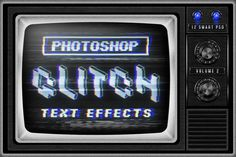 Preview image 1 for Photoshop Glitch Text Effects Vol. II
