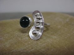 Sterling silver Orbit ring made by Bay Design