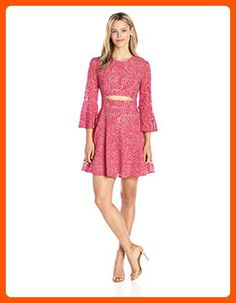 BCBGMax Azria Women's Marybeth Dress, Red Light Crystal Combo, 8 - All about women (*Amazon Partner-Link)