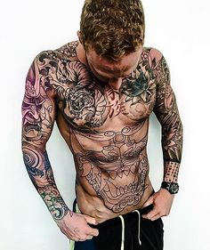 Stomach tattoos for guys – When it has to do with tattoos, the body is similar to a blank canvas, ready to be explored. Torso Tattoos, Hot Tattoos, Trendy Tattoos, Body Art Tattoos, Sleeve Tattoos, Tattoos For Guys, Abdomen Tattoo, Mens Body Tattoos, Life Tattoos