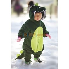 9e7378ee4273 DarkGreenDinosaur Costume Animal Kigurumi Pajamas For Kids Cosplay Unisex  Onesie Korea Made.