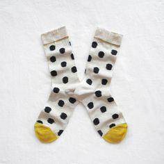 Chaussettes Bonne Maison / Bonne Maison socks - Pois Faux Noir