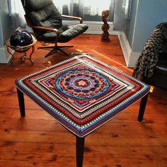 Ravelry: Project Gallery for Sophie's Garden pattern by Dedri Uys Crochet Pillow, Crochet Art, Crochet Home, Love Crochet, Beautiful Crochet, Crochet Blocks, Crochet Squares, Crochet Mandala Pattern, Crochet Patterns