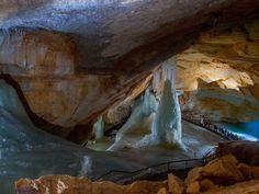Dachstein Rieseneishöhle Travel Around The World, Around The Worlds, Hallstatt, Austria, Waterfall, Landscape, Nature, Artwork, Painting