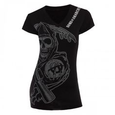 Sons of Anarchy Reaper Deep V-Neck Women�s T-Shirt  I want this!!!