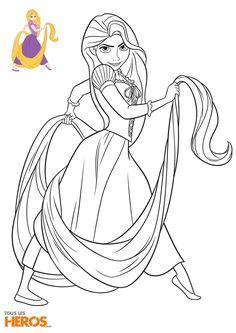 Coloriage Ariel Et Raiponce.Coloriage Disney Princesse Tiana Du Film La Princesse Et La