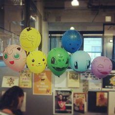 My pokemon balloon collection. Festa Pokemon Go, Pokemon Party, 9th Birthday Parties, 10th Birthday, Birthday Ideas, Themed Parties, Pokemon Balloons, Pokemon Birthday, Party Time
