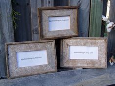 Barn Wood  Picture Frames by KPATTONDESIGNS on Etsy Barn Wood Picture Frames, Picture On Wood, Etsy, Unique Jewelry, Handmade Gifts, Pictures, Vintage, Home Decor, Photo On Wood