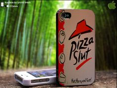 Pizza Slut Funny Pizza Boxs Design For iPhone 5 / 4 by SidePucket, $14.89