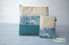 Fans patterned diaper bag with diaper clutch hand fans