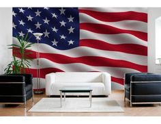 "Mural ""American Flag"". A wall mural from Muralunique.com. https://www.muralunique.com/american-flag-13-5-x-9-4-11m-x-2-75m.html;sort;p.date_added;order;DESC"