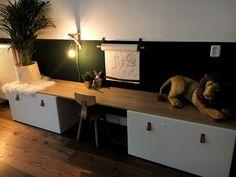 This cozy kids' corner can certainly be seen in your living room! Baby Bedroom, Room Decor Bedroom, Kids Bedroom, Ikea Stuva, Girl Bedroom Designs, Toy Rooms, Kids Room Design, Kids Corner, Kid Spaces