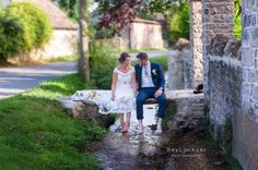 Ray Lockyer Yeovil Wedding Photographer - Our Bride and Groom relax in the village of Oborne during their little walk around