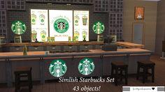 My Sims 4 Blog: Starbucks Set in Simlish by BrittpinkieSims