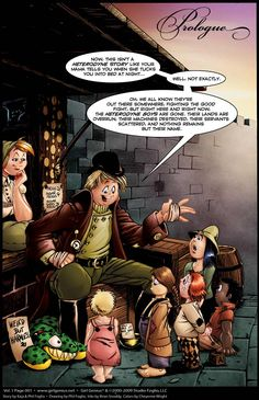 """This amazing webcomic, """"Girl Genius"""", has Adventure! Romance! Mad Science!!  Seriously, this Gaslamp Fantasy comic is one of the best I've ever read.  If you are interested in robots, sword fights, mad scientists, Steampunk, sentient castles, intrigue and romance, this is the comic for you :D!"""