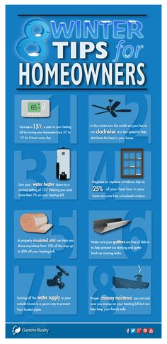 Helpful tips for homeowners during the winter to save money: http://garrettsrealty.com/8-winter-tips-for-homeowners/
