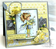 This uses a super sweet image from Wee Stamps available at I Brake For Stamps--colored with copics.