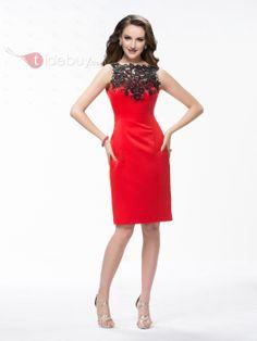 US$139.99 Elegant Appliques Sequins ColumnDressSheath Knee-Length CocktailSheathFormal Dress. #New #Elegant #Knee-Length #Appliques