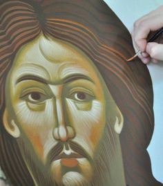 Droga Ikony / The Way of Icon, Vienna, Austria. Good Shepard, Fresco, Jesus Christ, Angel, Detail, Illustration, Face, Quotes, Pictures
