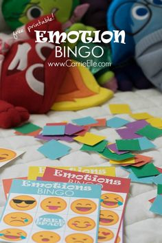 Printable Kids Games: Emotion Bingo Inspired by Inside Out