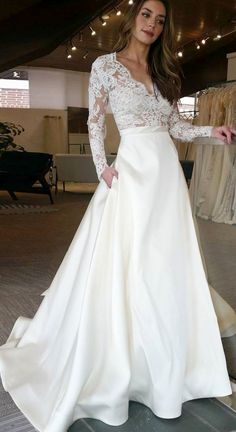 White wedding dress. All brides dream about having the most suitable wedding ceremony, however for this they need the ideal bridal dress, with the bridesmaid's dresses complimenting the brides dress. Here are a few suggestions on wedding dresses.