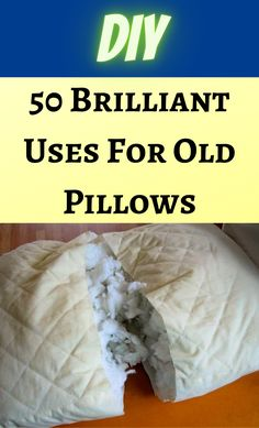 1000 Life Hacks, Useful Life Hacks, Upcycled Crafts, Repurposed, Old Pillows, Household Cleaning Tips, Craft Projects, Projects To Try, Diy Arts And Crafts