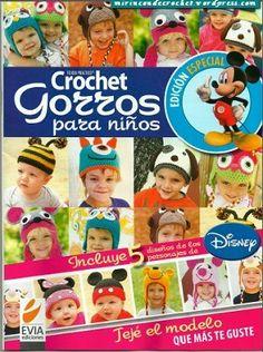 """Revista para descargar """" Crochet Gorros para niños"""""""