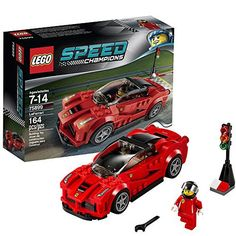 Lego Speed Champions LaFerrari 75899 LaFerrari features a removable windscreen, driver's cockpit, removable wheels, unique wheel trims and authentic Ferrari details Legos, Lego Wheels, Building Sets For Kids, Kids Part, Lego City Police, Lego Speed Champions, Popular Kids Toys, Lego System, Buy Lego