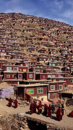 Tibet is located in the highest region of the world, which is why it is often referred to as the 'Roof of the World' Wu Jianijang Tibetan Nun Colony Places To Travel, Places To See, Travel Destinations, Travel Stuff, Nepal, Places Around The World, Around The Worlds, Magic Places, Les Continents
