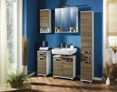Unterschrank Perlweiß Eichenfarbe online bestellen Locker Storage, Cabinet, Bathroom, Furniture, Design, Home Decor, Alicante, Products, Clothes Stand