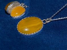 Honey 2 / a set of Yellow Agate with a Necklace and by gejewellery