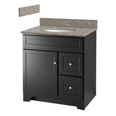 "Foremost WR Worthington 30"" Bathroom Vanity with White Vitreous China Sink Vanity Top Included"