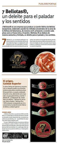 """Publirreportaje en """"LA RAZON"""" sobre los #Jamones ibéricos http://7bellotas.com/ procedentes de cerdo ibérico autóctono criado en libertad como el #jamon #iberico de #bellota 7 Bellotas Certificado"""