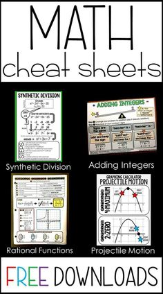 Have students who need a little extra support in math class? This post is a collection of FREE pdf math reference sheets to download and print for students. They are great for interactive math notebooks or enlarged to make math anchor charts and math bulletin board posters. All are free to download!