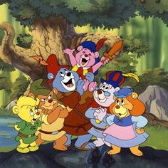 Gummi Bears, bouncing here and there and everywhere. High adventure that's beyond compare, they are the Gummi Bears! Vintage Cartoons, Classic Cartoons, Vintage Toys, Walt Disney, 90s Childhood, My Childhood Memories, Childhood Quotes, Old School Cartoons, 90s Disney Cartoons